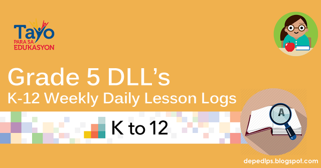 Deped Grade 5 K-12 Daily Lesson Log (DLL)