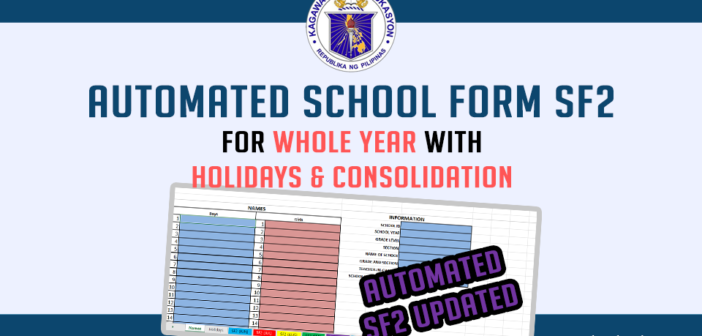 Automated School Form SF2 for Whole Year w/ Holidays