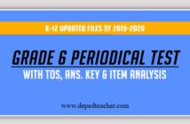 DOWNLOAD: 2nd Quarter Periodical Test Kinder to Grade 1-6
