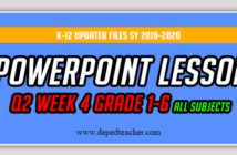 Deped Grade 6 K-12 PowerPoint Lessons Quarter 1-4 All